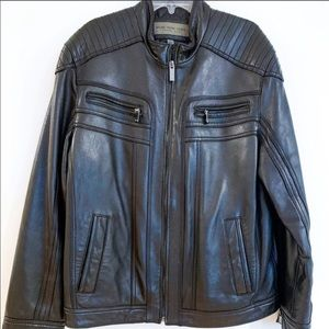Marc New York Andrew Marc 100%Black Leather